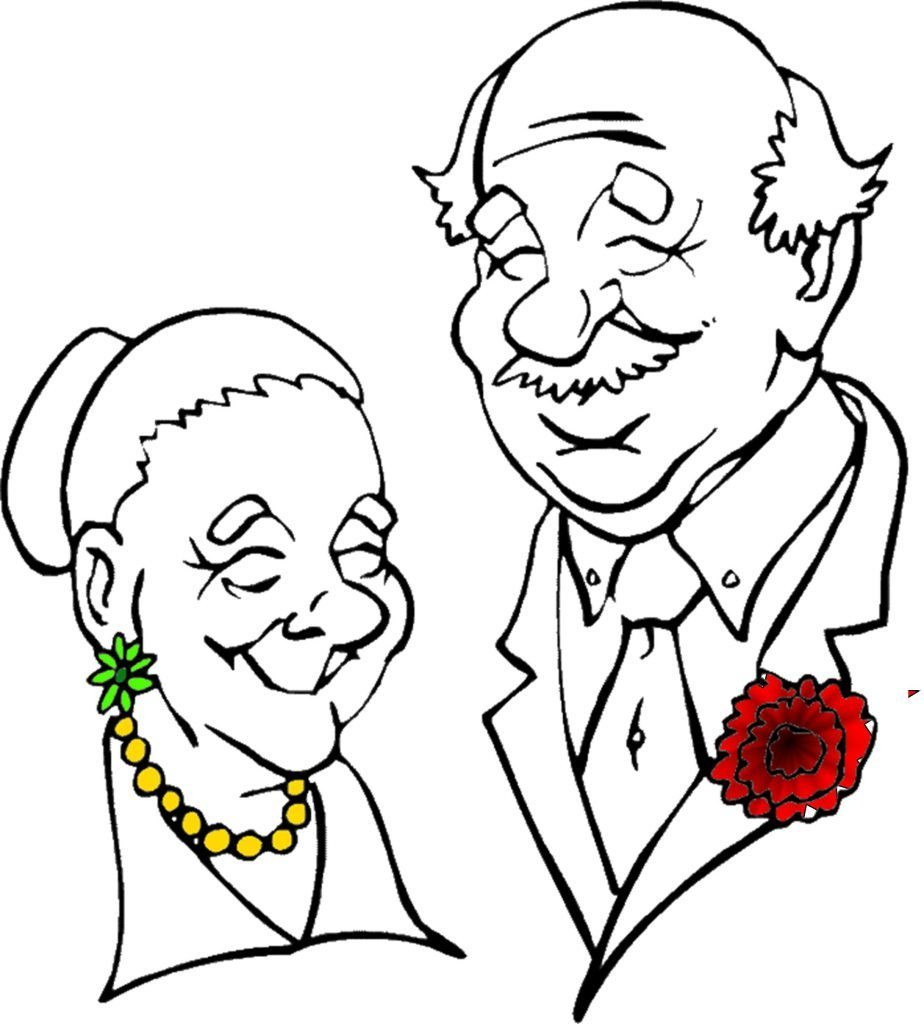 Black Grandparents Raising Grandparents Clip Art Black And White
