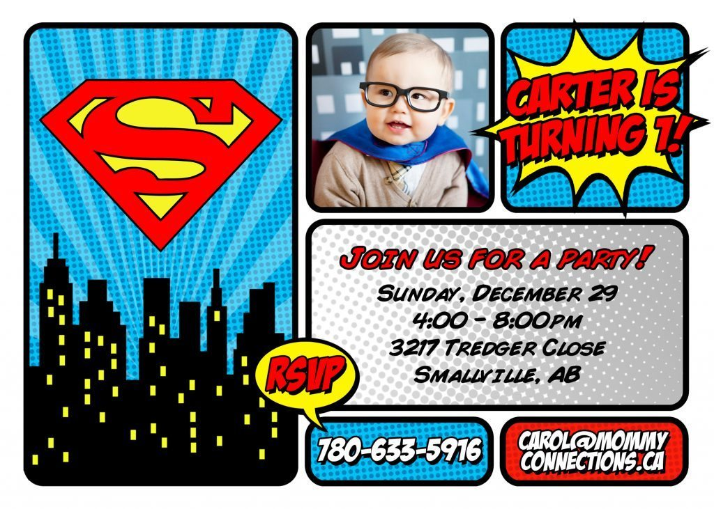 Superman First Birthday Party | Mommy Connections