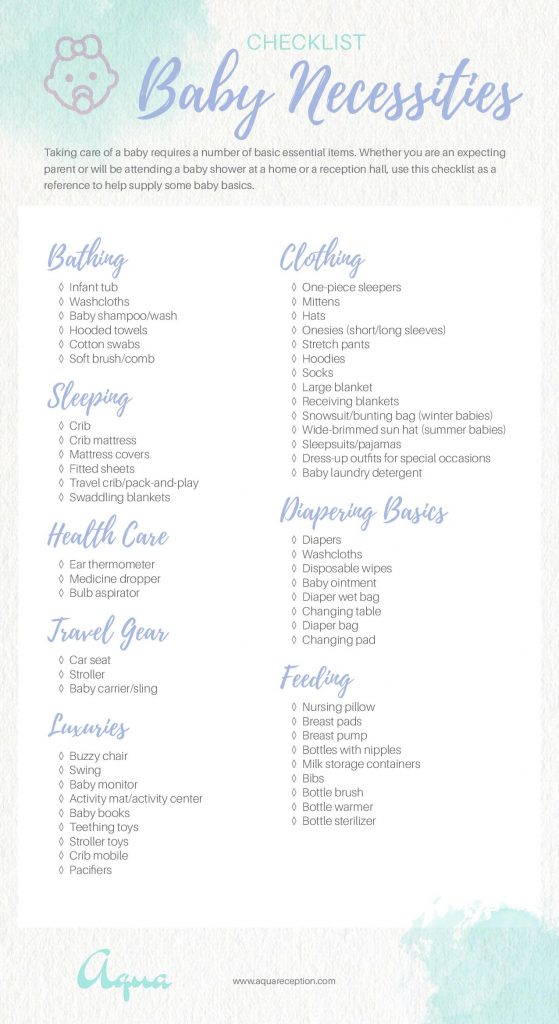 baby necessities checklist mommy connections